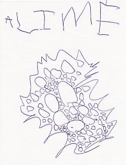 Esmé writes the word apple.