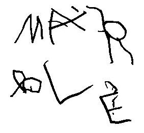 Max wrote 'marble'!